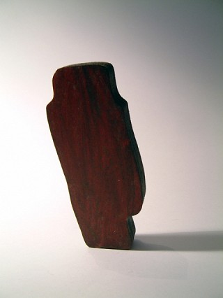 18. Shape shifters, 2011, Mixed media on wood, 13 x 7 x 2 cm
