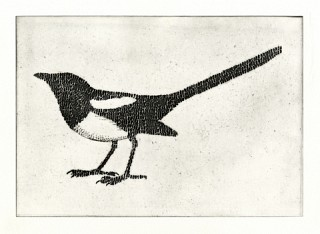 01. One for sorrow, 2009, Etching