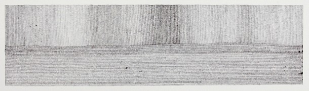 13. Between Earth and Sky I, 2010, Pen on paper, 30 x 95 cm