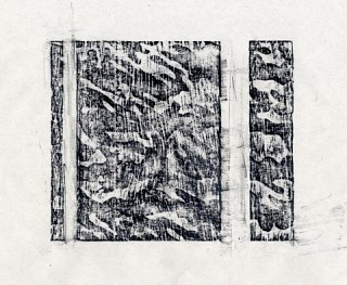 10. Ridgeway II, 2010, Charcoal and graphite, 22 x 20 cm