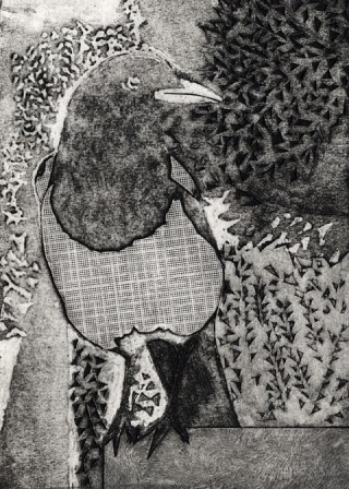 09. One for sorrow, 2009, Collograph