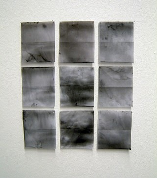 04. When Skies Are Grey, 2010, Paper and wax, each 10 x 7 cm