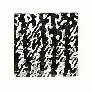 08. Night Ladder, 2010, Wood cut print, 20 x 20 cm
