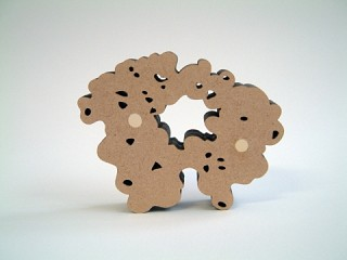 08. Shape shifters, 2011, Wood, 12 x 12 x 2 cm