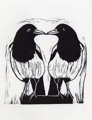 06. Two for joy, 2009, Lino cut