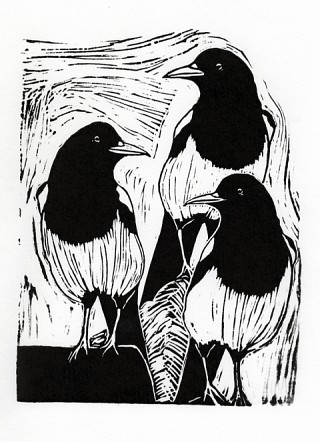 07. Three for a girl, 2009, Lino cut